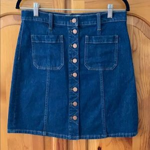 NWOT M'well Denim Skirt